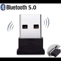 Bluetooth Adapter  - USB Dongle - Bluetooth 5.0 - USB Stick - Plug and Play - Zwart