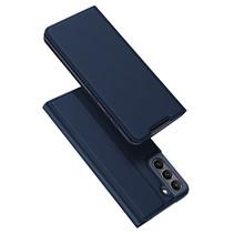 Samsung Galaxy S21 FE Hoesje - Dux Ducis Skin Pro Book Case - Donker Blauw