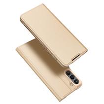 Samsung Galaxy S21 FE Hoesje - Dux Ducis Skin Pro Book Case - Goud