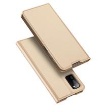 Samsung Galaxy A03s Hoesje - Dux Ducis Skin Pro Book Case - Goud