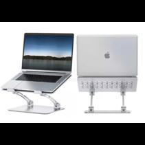 Ergonomische Laptop Standaard -  Volledig verstelbaar - Staand en zittend werken - Universele Laptophouder - Aluminium  - Grijs