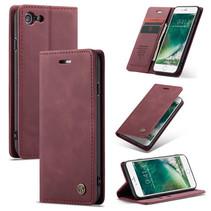 CaseMe - iPhone 7/8/SE 2020 hoesje - Wallet Book Case - Magneetsluiting - Rood