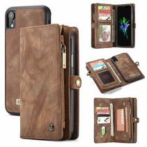 CaseMe - iPhone XR hoesje - 2 in 1 Wallet Book Case - Bruin