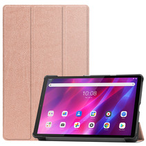 Lenovo Tab K10 (10.3 Inch) Hoes - Tri-Fold Book Case - Rosé-Goud
