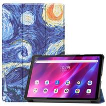 Lenovo Tab K10 (10.3 Inch) Hoes - Tri-Fold Book Case - Sterrenhemel