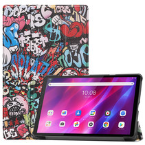 Lenovo Tab K10 (10.3 Inch) Hoes - Tri-Fold Book Case - Graffiti