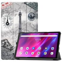 Lenovo Tab K10 (10.3 Inch) Hoes - Tri-Fold Book Case - Eiffeltoren