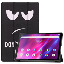 Lenovo Tab K10 (10.3 Inch) Hoes - Tri-Fold Book Case - Don't Touch Me