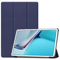 Huawei MatePad 11 Inch (2021) Hoes - Tri-Fold Book Case - Donker Blauw