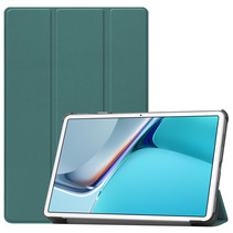 Huawei MatePad 11 Inch (2021) Hoes - Tri-Fold Book Case - Donker Groen