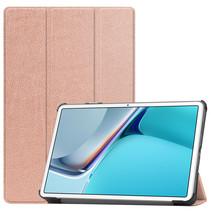 Huawei MatePad 11 Inch (2021) Hoes - Tri-Fold Book Case - Rosé-Goud