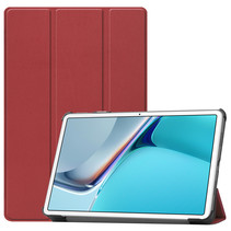 Huawei MatePad 11 Inch (2021) Hoes - Tri-Fold Book Case - Donker Rood