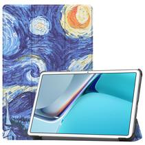 Huawei MatePad 11 Inch (2021) Hoes - Tri-Fold Book Case - Sterrenhemel