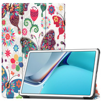 Huawei MatePad 11 Inch (2021) Hoes - Tri-Fold Book Case - Vlinders