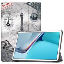 Huawei MatePad 11 Inch (2021) Hoes - Tri-Fold Book Case - Eiffeltoren