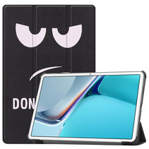 Huawei MatePad 11 Inch (2021) Hoes - Tri-Fold Book Case - Don't Touch Me