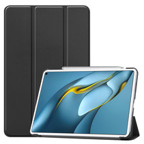 Huawei MatePad Pro 10.8 (2021) Hoes - Tri-Fold Book Case - Zwart
