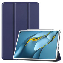 Huawei MatePad Pro 10.8 (2021) Hoes - Tri-Fold Book Case - Donker Blauw