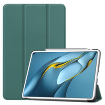 Huawei MatePad Pro 10.8 (2021) Hoes - Tri-Fold Book Case - Donker Groen