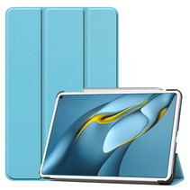 Huawei MatePad Pro 10.8 (2021) Hoes - Tri-Fold Book Case - Licht Blauw
