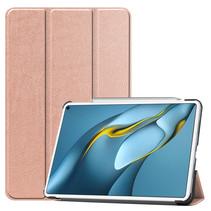 Huawei MatePad Pro 10.8 (2021) Hoes - Tri-Fold Book Case - Rosé-Goud