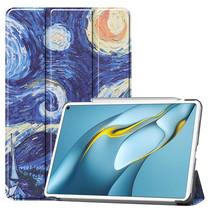 Huawei MatePad Pro 10.8 (2021) Hoes - Tri-Fold Book Case - Sterrenhemel