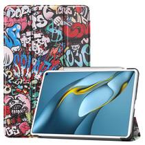 Huawei MatePad Pro 10.8 (2021) Hoes - Tri-Fold Book Case - Graffiti