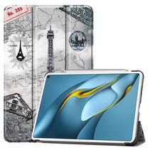 Huawei MatePad Pro 10.8 (2021) Hoes - Tri-Fold Book Case - Eiffeltoren