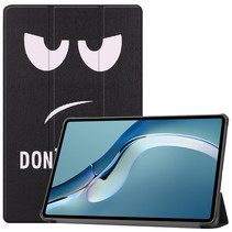 Huawei MatePad Pro 12.6 (2021) Hoes - Tri-Fold Book Case - Don't Touch Me