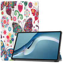 Huawei MatePad Pro 12.6 (2021) Hoes - Tri-Fold Book Case - Vlinders