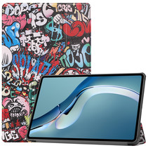 Huawei MatePad Pro 12.6 (2021) Hoes - Tri-Fold Book Case - Graffiti