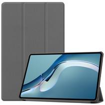 Huawei MatePad Pro 12.6 (2021) Hoes - Tri-Fold Book Case - Grijs