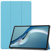 Huawei MatePad Pro 12.6 (2021) Hoes - Tri-Fold Book Case - Licht Blauw