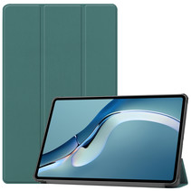 Huawei MatePad Pro 12.6 (2021) Hoes - Tri-Fold Book Case - Donker Groen