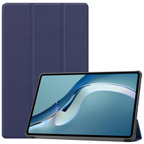 Huawei MatePad Pro 12.6 (2021) Hoes - Tri-Fold Book Case - Donker Blauw