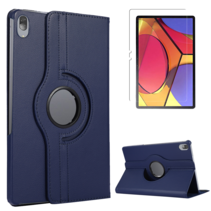 Lenovo Tab P11 Pro Hoes - Draaibare Book Case + Screenprotector - 11.5 inch - Donker Blauw