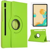 Samsung Galaxy Tab S7 Hoes (2020) - Draaibare Book Case + Screenprotector - 11 Inch - Groen