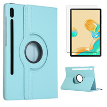 Samsung Galaxy Tab S7 Hoes (2020) - Draaibare Book Case + Screenprotector - 11 Inch - Licht Blauw