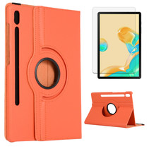 Samsung Galaxy Tab S7 Hoes (2020) - Draaibare Book Case + Screenprotector - 11 Inch - Oranje
