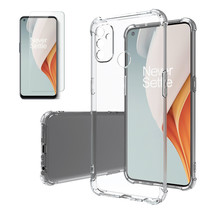 OnePlus Nord N100 Hoesje + Screenprotector- Clear Soft Case - Siliconen Back Cover - Shock Proof TPU - Transparant