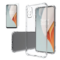 OnePlus Nord N10 Hoesje + Screenprotector- Clear Soft Case - Siliconen Back Cover - Shock Proof TPU - Transparant