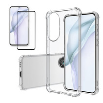 Huawei P50 Hoesje + Screenprotector- Clear Soft Case - Siliconen Back Cover - Shock Proof TPU - Transparant