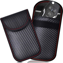 Sleuteletui voor Autosleutel - RIFD Beschermhoes Autosleutel - Anti Diefstal - 14 x 9 cm  - Zwart