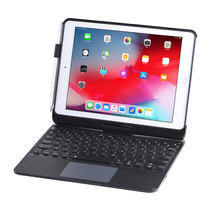iPad 9.7 (2017/2018) case - Bluetooth Toetsenbord hoes - met Touchpad & Toetsenbordverlichting - Zwart