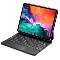 iPad Pro 12.9 (2021/2020/2018) case - Bluetooth Toetsenbord hoes - met Touchpad & Toetsenbordverlichting - Zwart