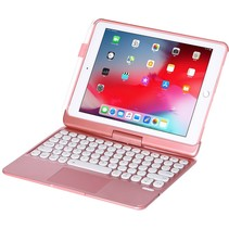 iPad 9.7 (2017/2018) case - Bluetooth Toetsenbord hoes - met Touchpad & Toetsenbordverlichting - Rosé Goud