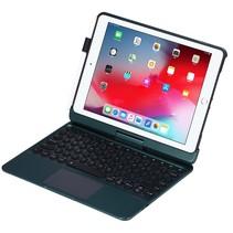 iPad 9.7 (2017/2018) case - Bluetooth Toetsenbord hoes - met Touchpad & Toetsenbordverlichting - Donker Groen