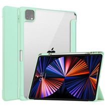 iPad Pro 2021 (12.9 Inch) Hoes - Tri-fold Back Cover - Met Pencil Houder - Mint