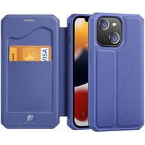 iPhone 13 Hoesje - Dux Ducis Skin X Wallet Case - Blauw