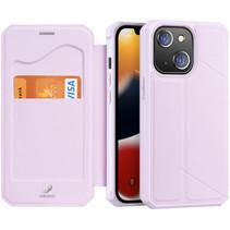 iPhone 13 Hoesje - Dux Ducis Skin X Wallet Case - Roze